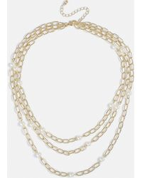 Missguided - Gold Pearl 3 Row Body Chain - Lyst
