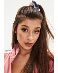 Missguided   Blue Pink 2 Pack Hair Scrunchies   Lyst