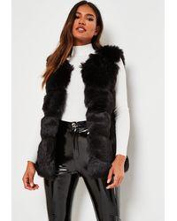 Missguided Faux Fur Gilet - Black