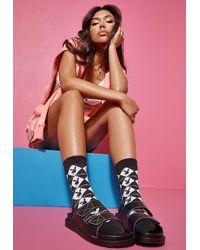 Missguided Playboy X Monogram Socks - Black