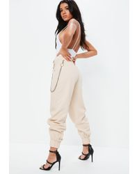 Missguided - Fanny Lyckman X Nude Cargo Chain Trousers - Lyst