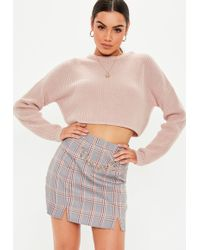 b29813c05 Missguided Pink Multi Stripe Brushed Knitted Sweater in Pink - Lyst