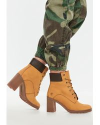 06de7a695084cc Missguided - Timberland Wheat Nubuck Allington 6 Inch Lace Up Boots - Lyst