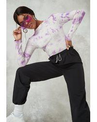 Missguided Tie Dye Bodysuit - Purple