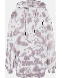 Missguided Playboy X Charcoal Tie Dye Hoodie Dress - Grey