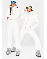 Missguided Msgd Ski Quilted Corset Snow Suit - White