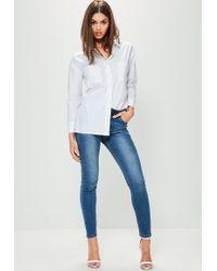 Missguided - White Basic Shirt - Lyst