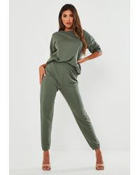 Missguided T Shirt And Joggers Co Ord Set - Green