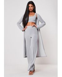 Missguided - Grey Slinky 3 Piece Co Ord Set - Lyst