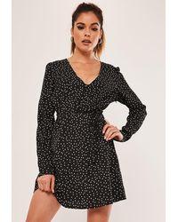 Missguided Black Pearl Strap Satin Mini Dress