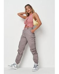 Missguided Stone Twill Cargo Pants - Multicolour