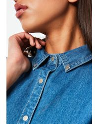 Missguided Silver Collar Tips - Metallic