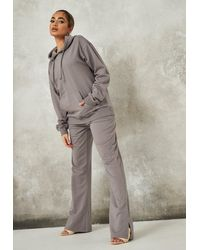 Missguided Hoodie And Flare Trousers Co Ord Set - Grey