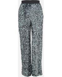 Missguided Pantalon gris à paillettes premium