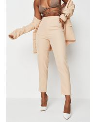 Missguided Co Ord Tailored Cigarette Pants - Natural
