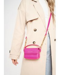 Missguided Pink Chain Detail Cross Body Bag