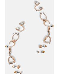 Missguided Boucles d'Oreilles dorées Serpent et strass - Métallisé