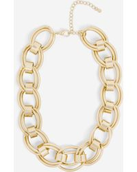 Missguided Look Extreme Chunky Chain Necklace - Metallic