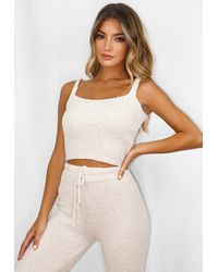 Missguided Cosy Knit Bralet - White