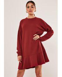 Missguided Red Croc Vinyl Mini Skirt
