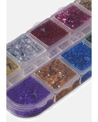Missguided In Your Dreams Rainbow Geode Face Body Nail Foils - Purple