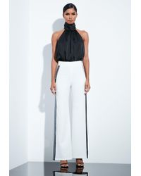 Missguided - Peace + Love Ivory Sequin Tailored Trousers - Lyst