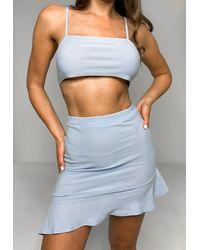 Missguided Cami Top And Mini Skirt Co Ord Set - Blue