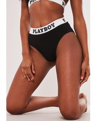 Missguided X Black Taped Highwaisted Knickers