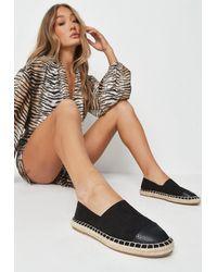 Missguided Black Toe Cap Espadrille Sandals