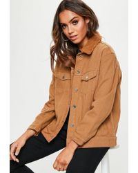 7eb309da3c715a Missguided Tall Contrast Detail Sleeveless Duster Jacket Camel in ...