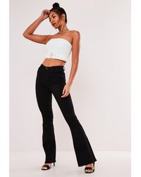 Missguided Black Flare Jeans