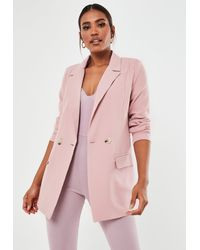 Missguided Size Pink Co Ord Long Blazer