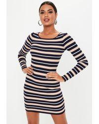 2adcea21dc4 Lyst - Missguided Black Stripe Buckle Belt T Shirt Dress in Black