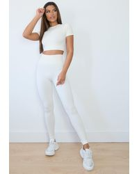 Missguided Cream Seamless Gym Leggings - Multicolor