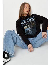 Missguided Black Graphic Ice Cube Sweatshirt