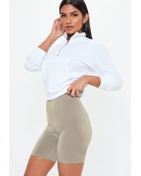 Missguided - Stone Slinky Cycling Shorts - Lyst
