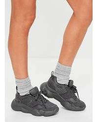 Missguided Grey Chunky Sole Trainers