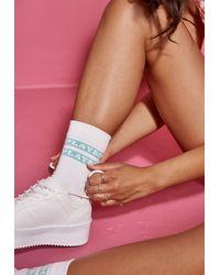 Missguided Playboy X Logo Socks - White