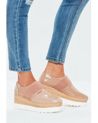Missguided - Nude Contrast Platform Shoe - Lyst