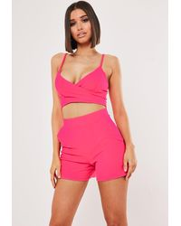 Missguided Pink Co Ord Shorts