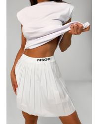 Missguided White Msgd Pleated Tennis Skirt
