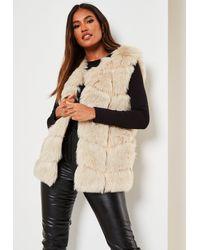 Missguided Faux Fur Gilet - Natural