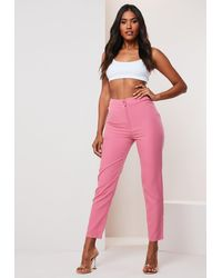 Missguided Pink Co Ord Basic Cigarette Pants