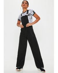 8714c01834c Lyst - Cheap Monday Later Dungaree Jumpsuit in Black