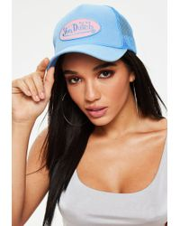 Missguided - Von Dutch Blue Mesh Baseball Cap - Lyst