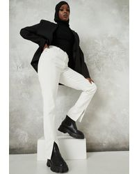Missguided White Split Front Wrath Jeans