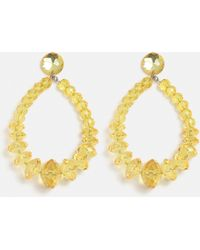 Missguided - Bright Yellow Bead Drop Earrings - Lyst
