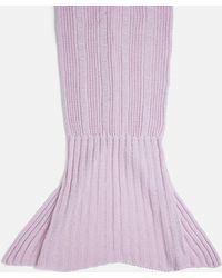 Missguided   Lilac Knitted Mermaid Blanket   Lyst