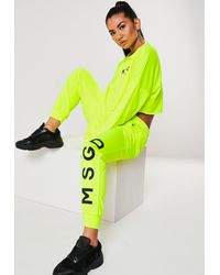 Missguided Active Neon Yellow Msgd Joggers