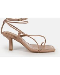 Missguided Strappy Toe Post Mid Heel Sandals - Multicolour